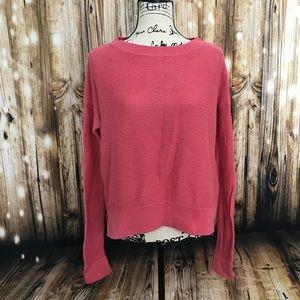Pink loft boatneck knit sweater